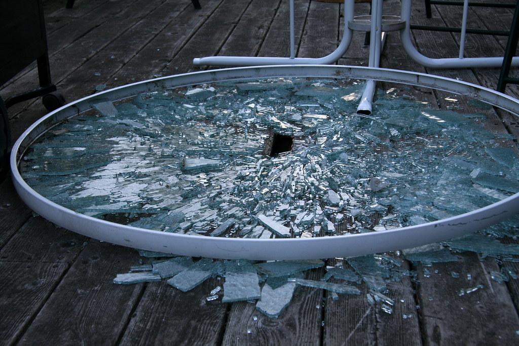 Broken Glass Table | Angela | Flickr