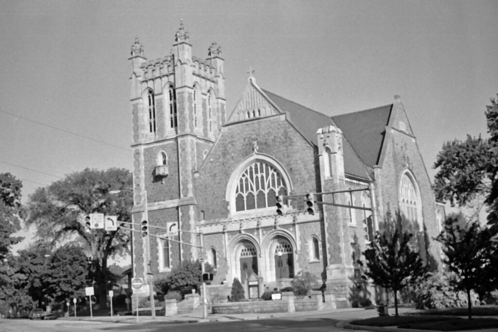 church captured with an argus c3 the brick and kodak t flickr. Black Bedroom Furniture Sets. Home Design Ideas