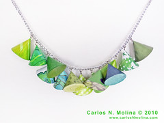 Conic Necklace - Paper | by Carlos N. Molina - Paper Art
