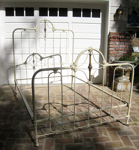 antique wrought iron bed frame by yanilea