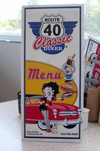 route 40 classic diner menu