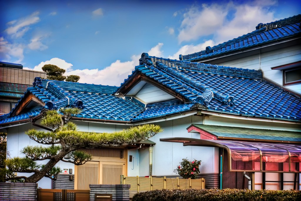 Blue Roofed Japanese House Today S Photo Is The Upper