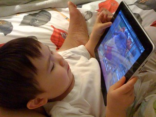 watching sid the science kid on the ipad | by jencu