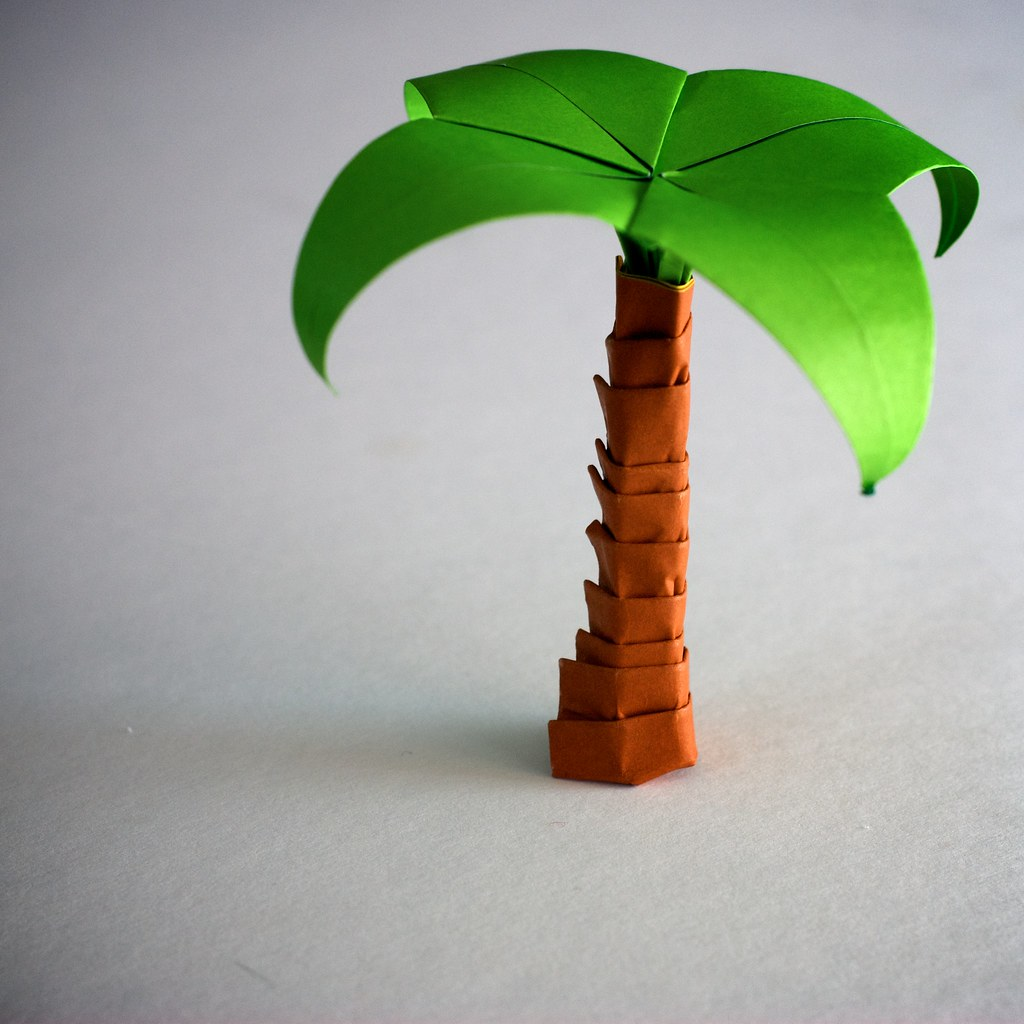 Origami Palm Tree Panthermodem Flickr