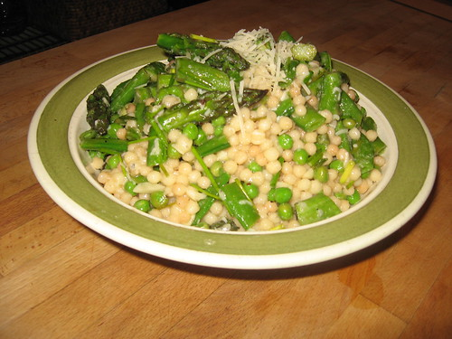 Israeli Couscous With Asparagus, Peas, and Sugar Snaps | by Michael Beyer Photography