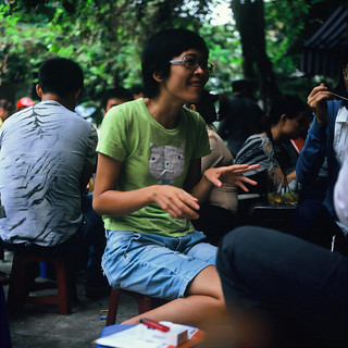 Young woman in a bar, Hoàn Kiếm district, Hanoi, Vietnam - Monday, 4th October 2010 | by Lumière en juin