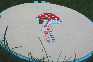 mary jane and her mushroom umbrella! | by sewdeerlyloved