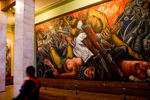 Siqueiros mural de david siqueiros en el palacio de for Mural siqueiros