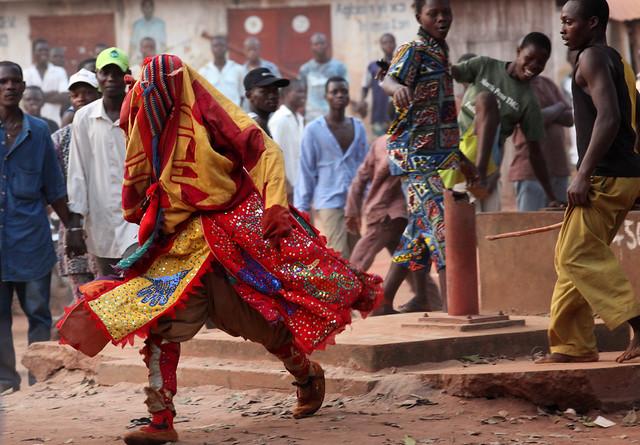 Egunguns in Cové, Benin,