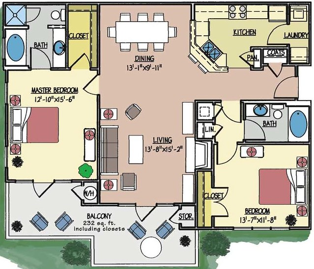 Condo 2024 floor plan 2 bedroom 2 bath third floor for 2 bedroom 2 bath condo floor plans