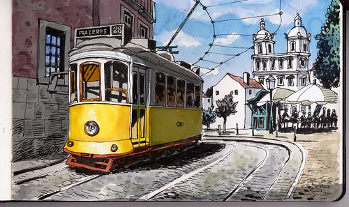 Lisbon yellow street car | by Carlos Barradas2011