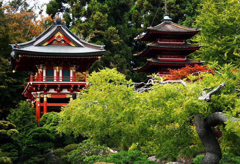 San Francisco Japanese Tea Garden - Temple Gate and Pagoda… | Flickr