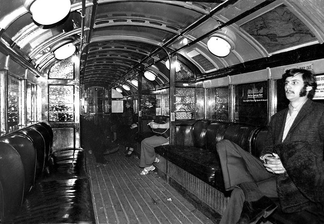 glasgow subway car interior 1973 the original wooden cars flickr. Black Bedroom Furniture Sets. Home Design Ideas