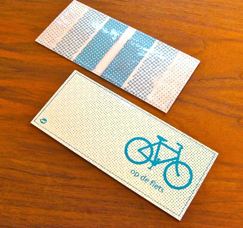 Op de Fiets - Swiss dot wallet in turkoois | by Tinymeat PDX