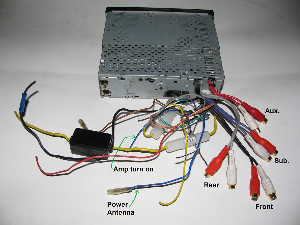 Back Of My Clarion Dxz825 Reciever Rcas And Amp Turn On Flickr Wiring Electrical Power Antenna