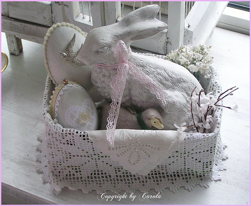 A white Easter basket | by Boxwoodcottage