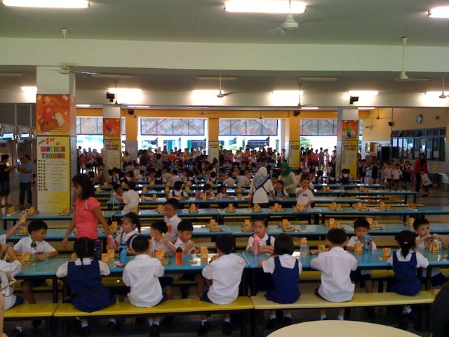 Report on the involvement of the English Society during the School Canteen Day