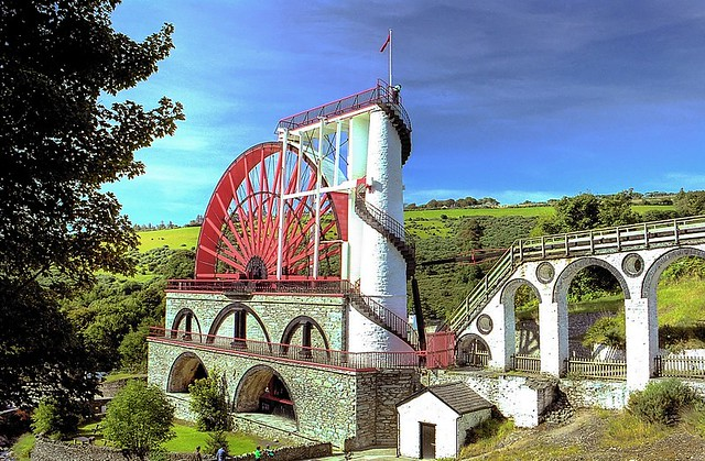 Laxey Wheel Isle Of Man Laxey Wheel Built In 1854 On