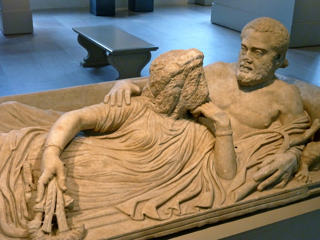 & Marble sarcophagus lid with reclining couple Metropolitanu2026 | Flickr islam-shia.org