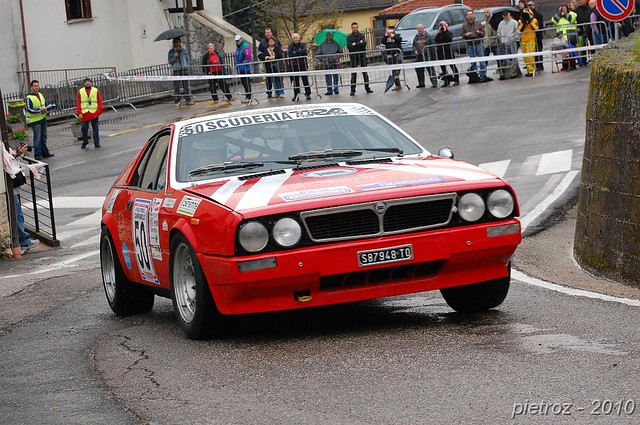 Classic Lancia Rally Car