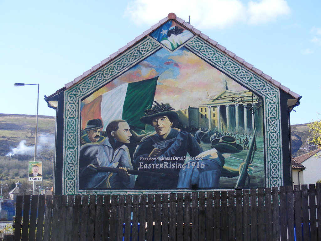 easter rising republican mural whiterock road area west