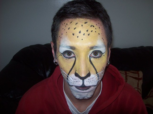 Easy cheetah face paint for kids - photo#21