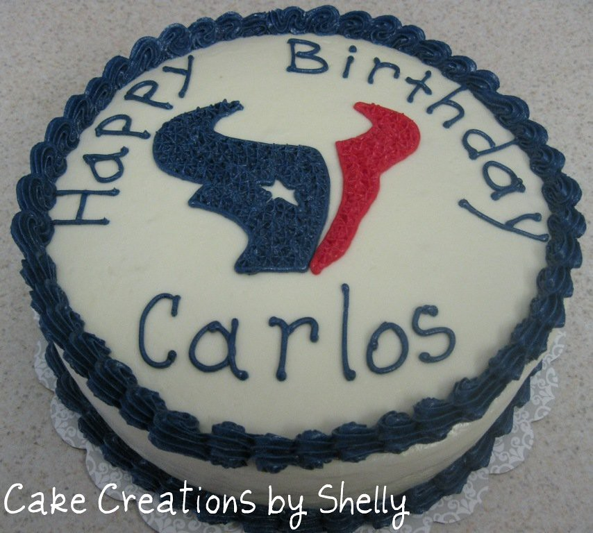 Texans Birthday Cake 8 Round Cake Houston Texans Footbal Cake