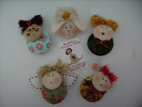 Buttons ou Broches | by Amábile's Country Dolls
