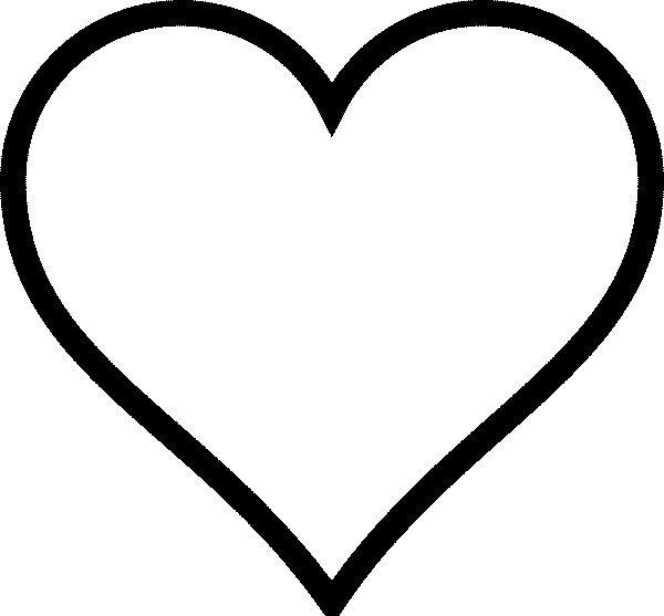 heart shape coloring pages - photo#9