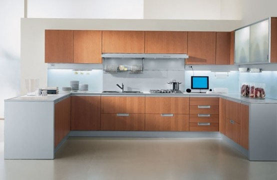 Modern Kitchen White And Gray