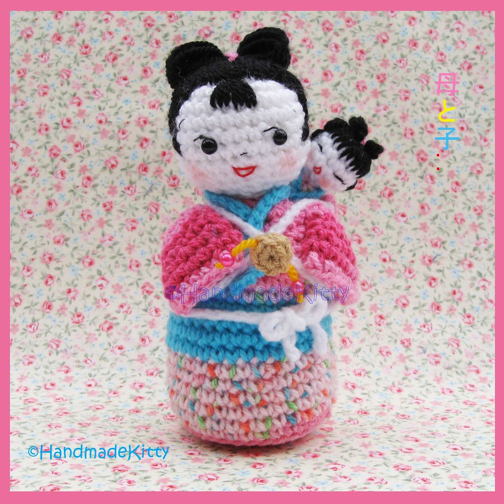 Japanese Amigurumi Blog : Japanese Kokeshi mother and baby Amigurumi Crochet Pattern ...
