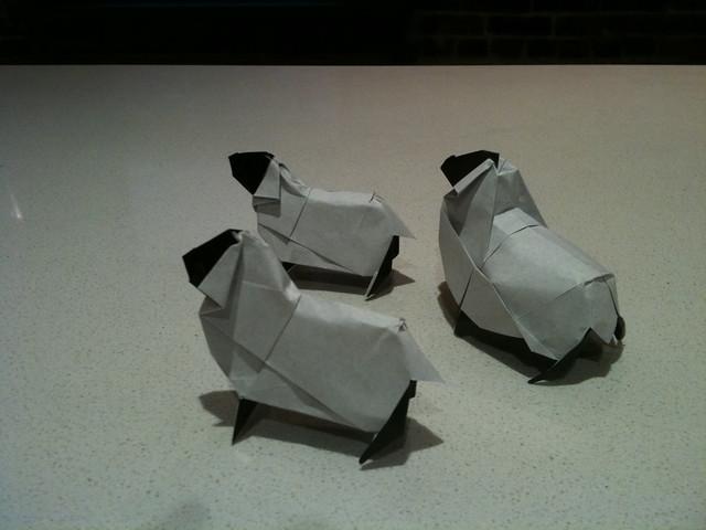 Flock of Lamb Origami | Flickr - Photo Sharing!