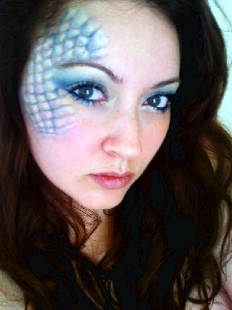 Mermaid makeup | Jessica J Miller | Flickr