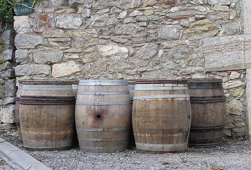 Old wine barrels
