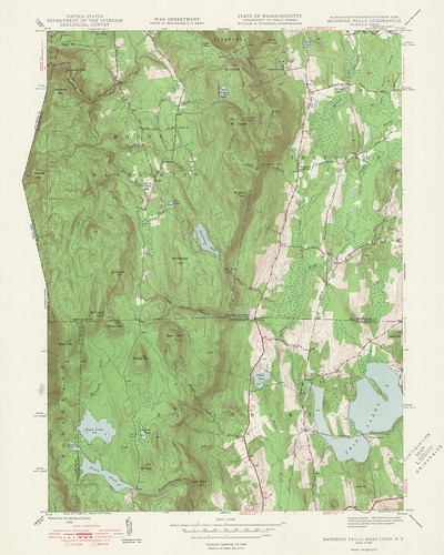 Bashbish Falls Quadrangle 1948 - USGS Topographic Map 1:24,000 | by uconnlibrariesmagic