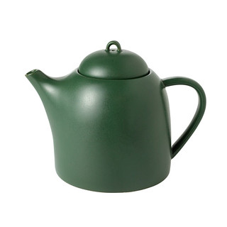 Tall Green Ceramic Teapot - 32 oz. | by Mighty Leaf Tea