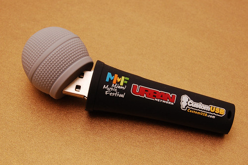 custom microphone usb drives for miami music festival flickr. Black Bedroom Furniture Sets. Home Design Ideas