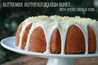 Buttermilk Butternut Squash Bundt with Spiced Vanilla Icing - I Like Big Bundts | by Food Librarian