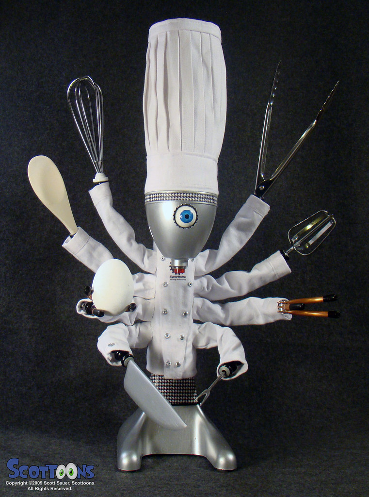Chefbot robot chef and cyber cook meet chefbot from - Robot supreme chef ...