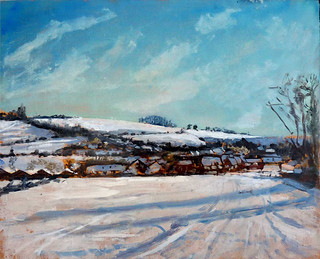Sun on snow at Edington | by andrewpainting1