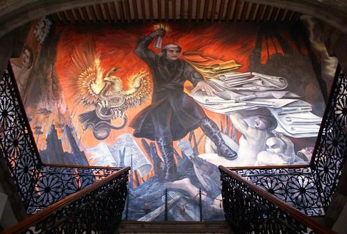 1 6 mural en el cubo de la escalera del ex palacio de just for El mural guadalajara
