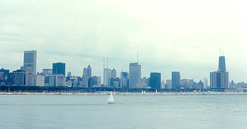 Chicago Skyline in 1970 | The Chicago skyline on Lake ... | 500 x 262 jpeg 34kB