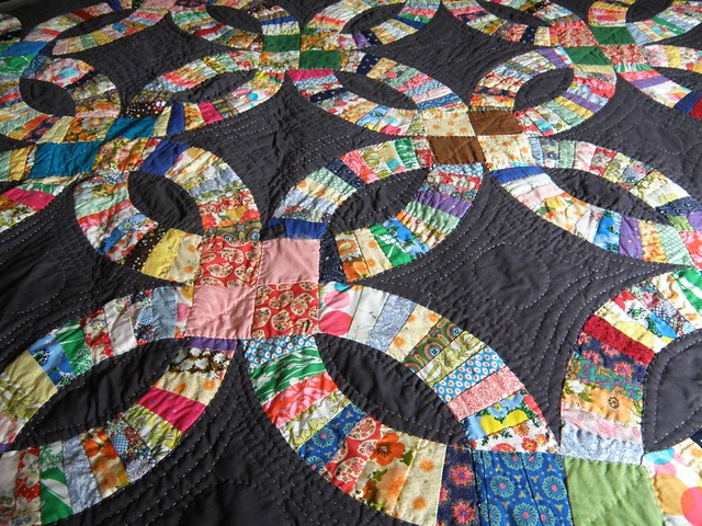 double wedding ring quilt by erika ray - Wedding Ring Quilt