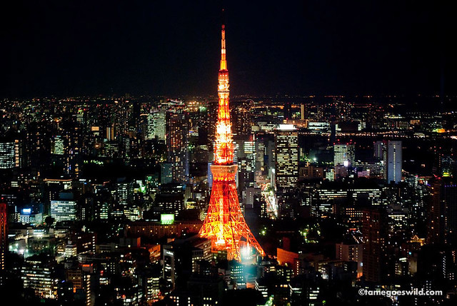 Mori Tower Sky Deck | Tokyo Tower by night The original ...
