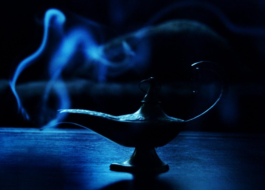 ... Blue Magic Lamp   By Ciara*
