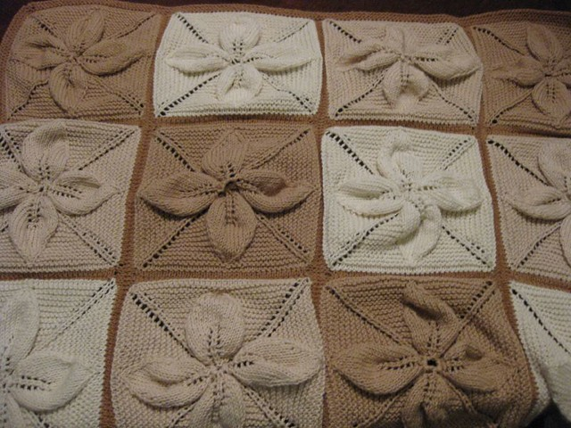 Leaf Counterpane Baby Blanket Knit Picks Natural Simply Co Flickr