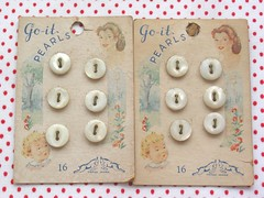 Vintage Button Cards | by Niesz Vintage Fabric