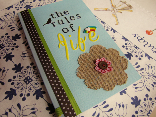 Book Covers Diy ~ My diy book cover of quot the rules life dayna ngai flickr