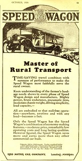 1924 REO Speed Wagon advertisement from October 1924 Farm Journal magazine | by bigcats1934