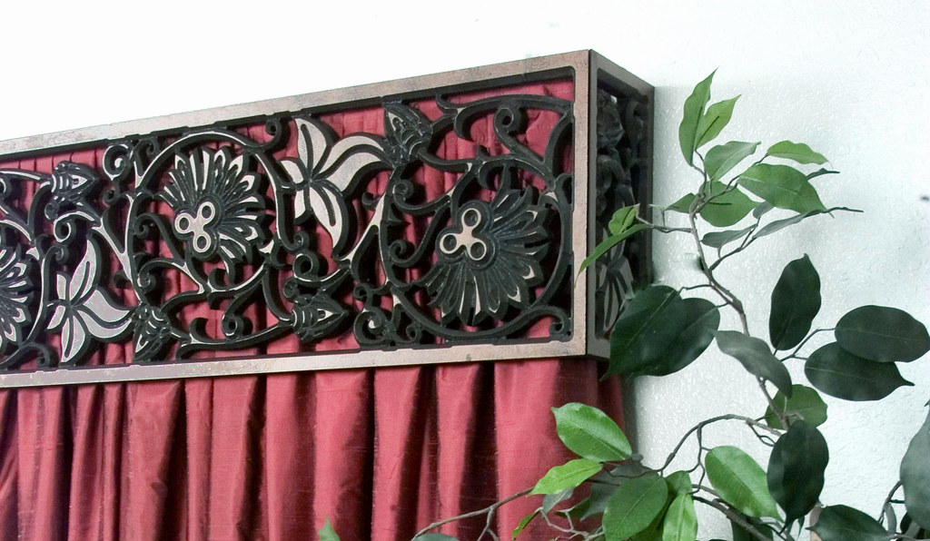 Wrought Iron Cornice : Faux wrought iron cornice window treatment the